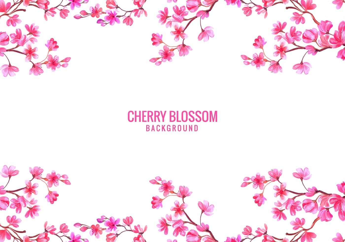 Pink Cherry Blossom Background vector