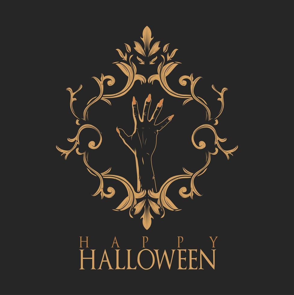feliz halloween marco vintage vector