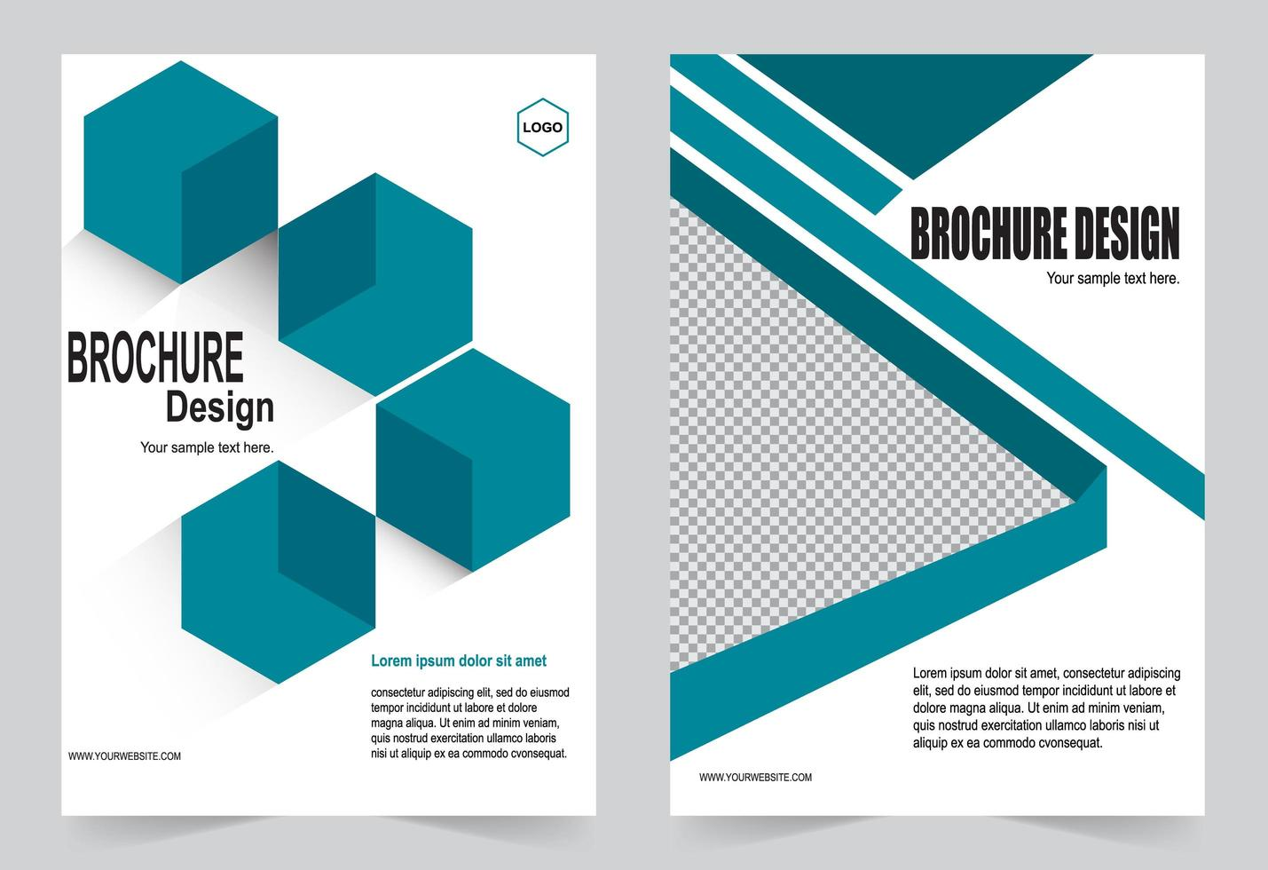 Teal Cover Template vector