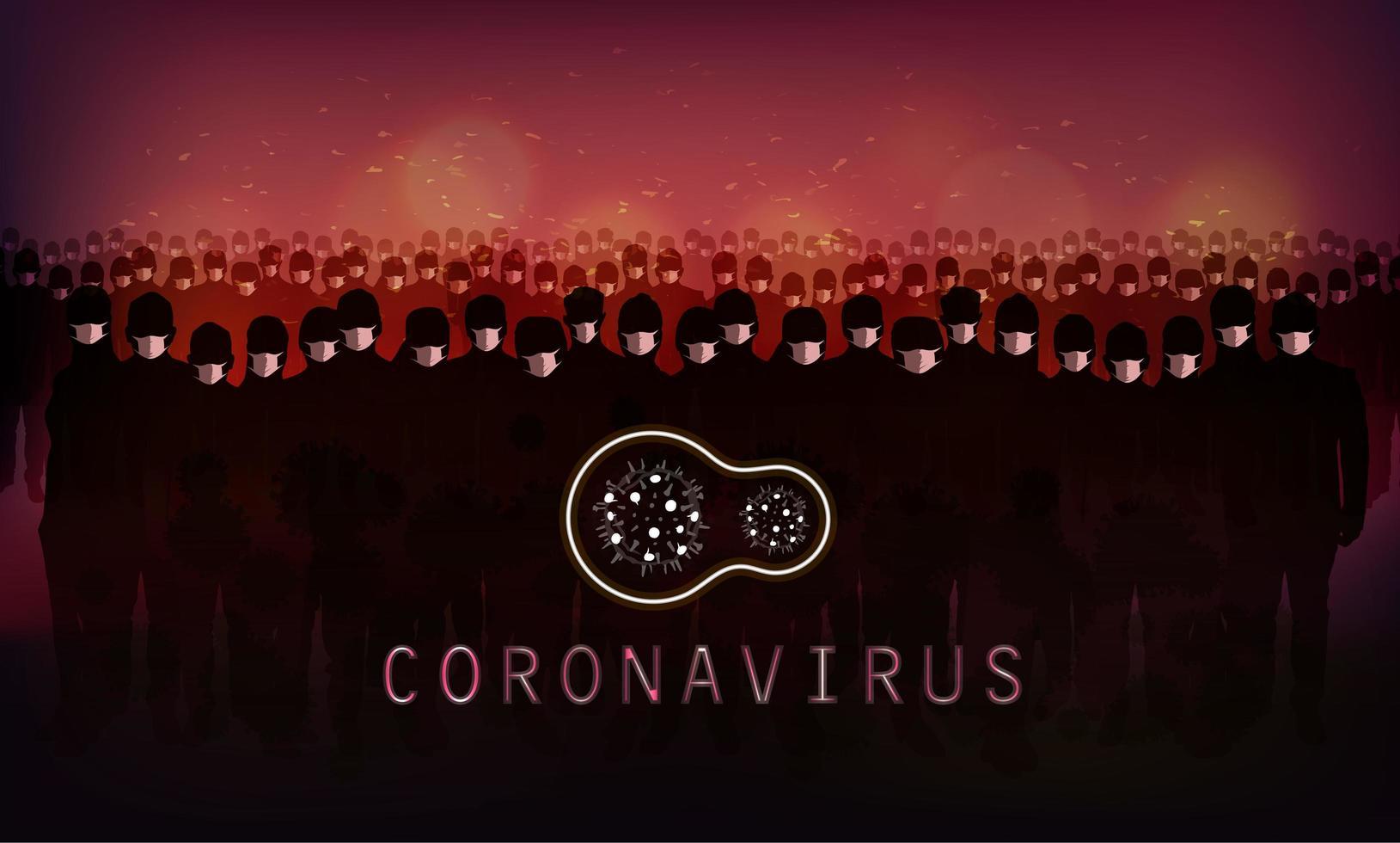 Red Coronavirus Banner vector