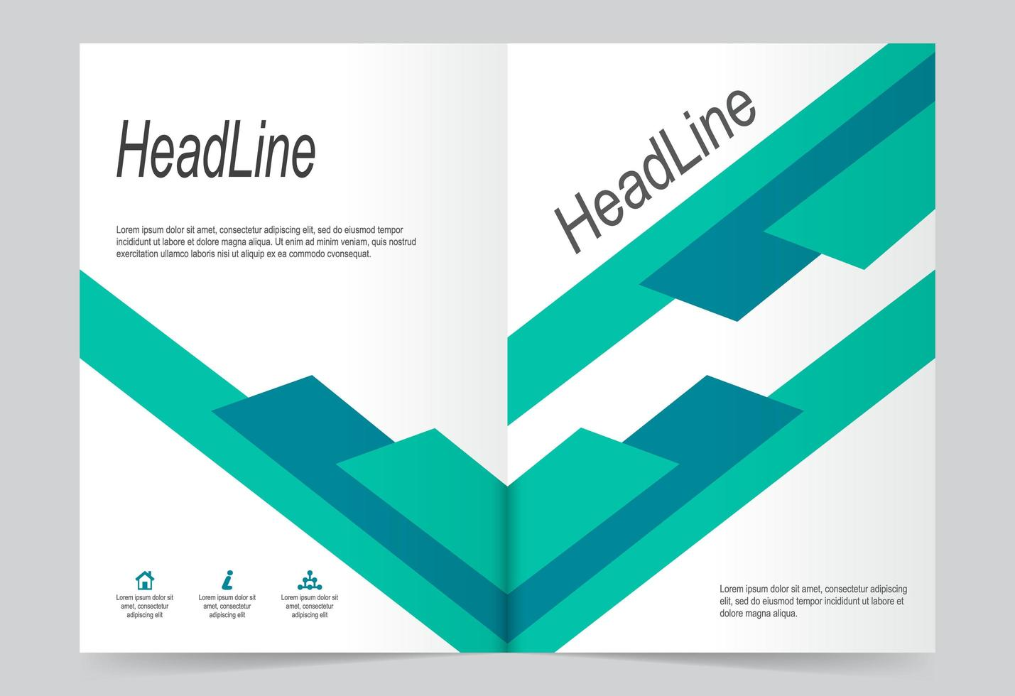 Annual report cover template. vector