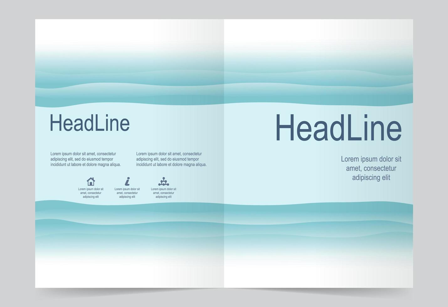Blue Front and Back Cover  vector