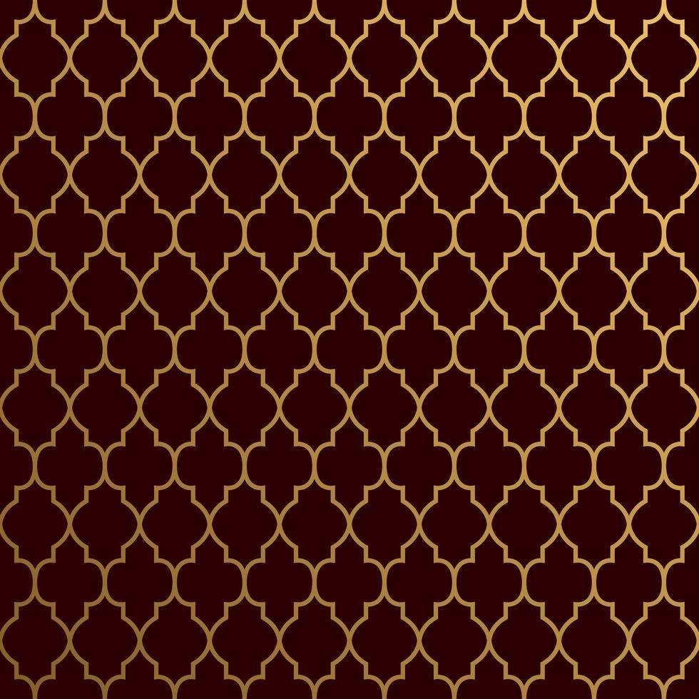 Seamless Luxurious Shape Pattern on Dark Background vector