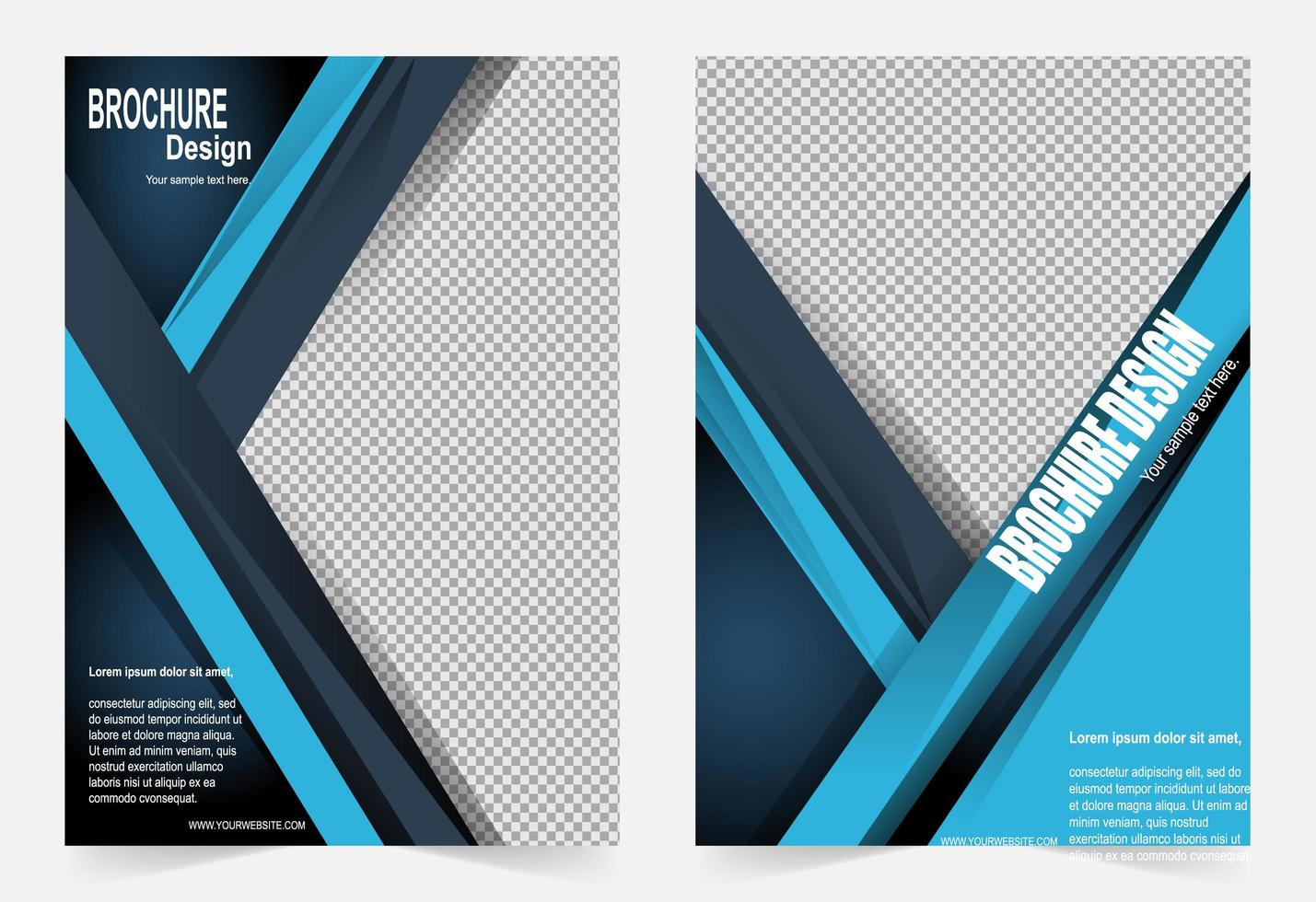 Blue layering cover template vector