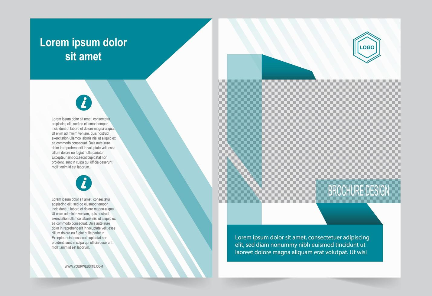 Green Lines Cover Template vector