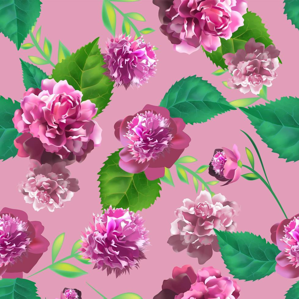 3d realistic vintage roses vector