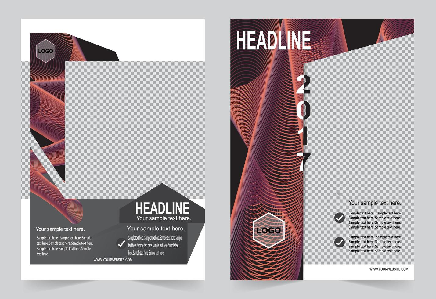 Abstract cover template vector