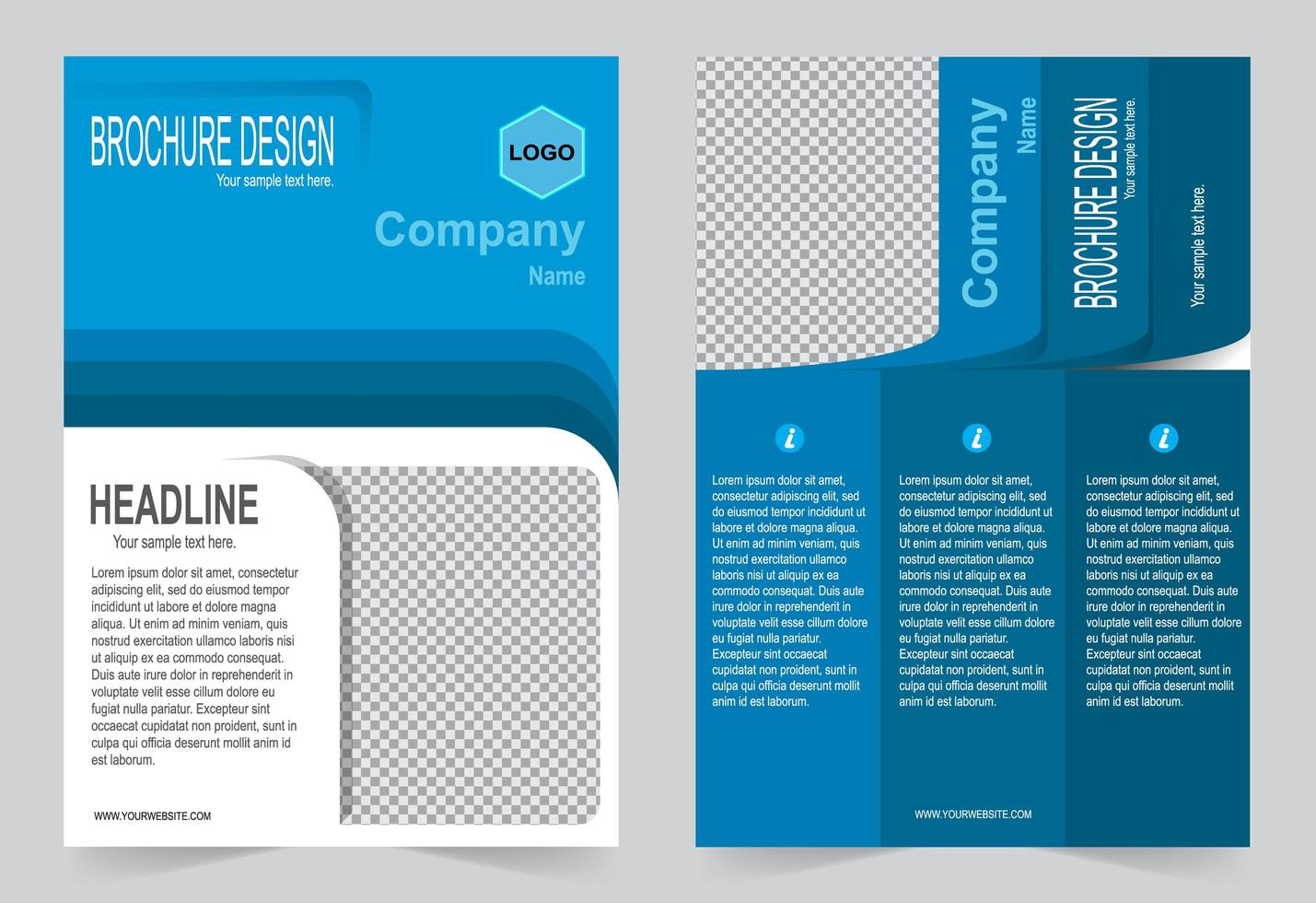 Company Cover Template vector