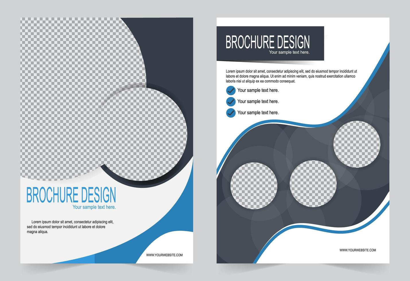 White cover template vector