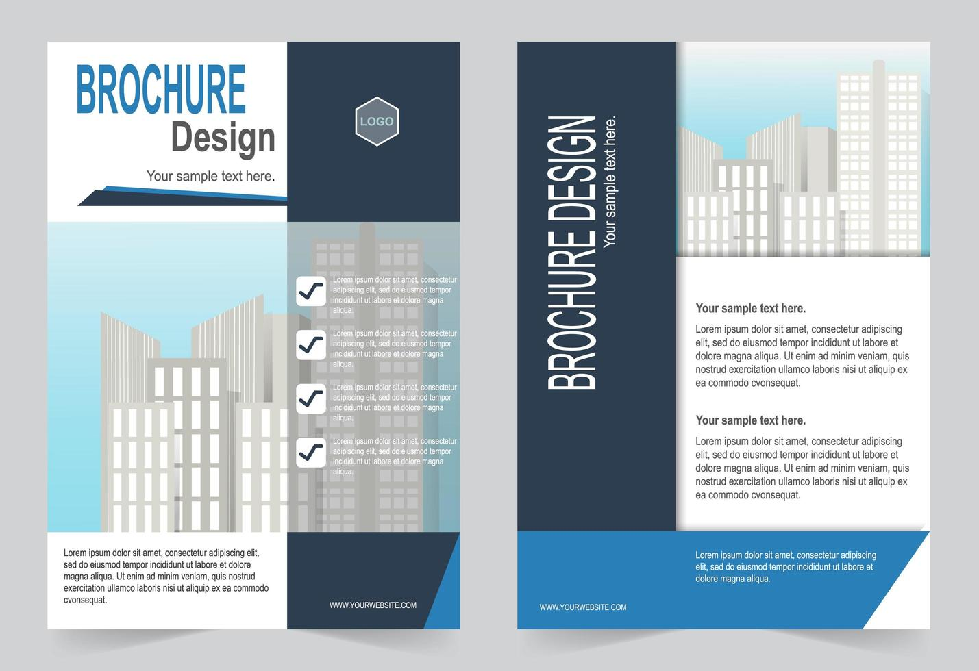 Cover template with image space vector
