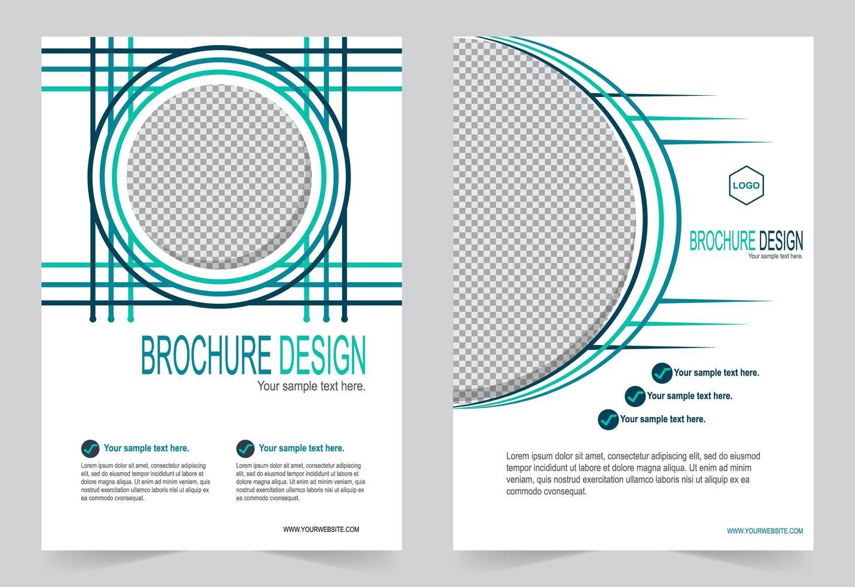cubierta blanca con imagen circular vector