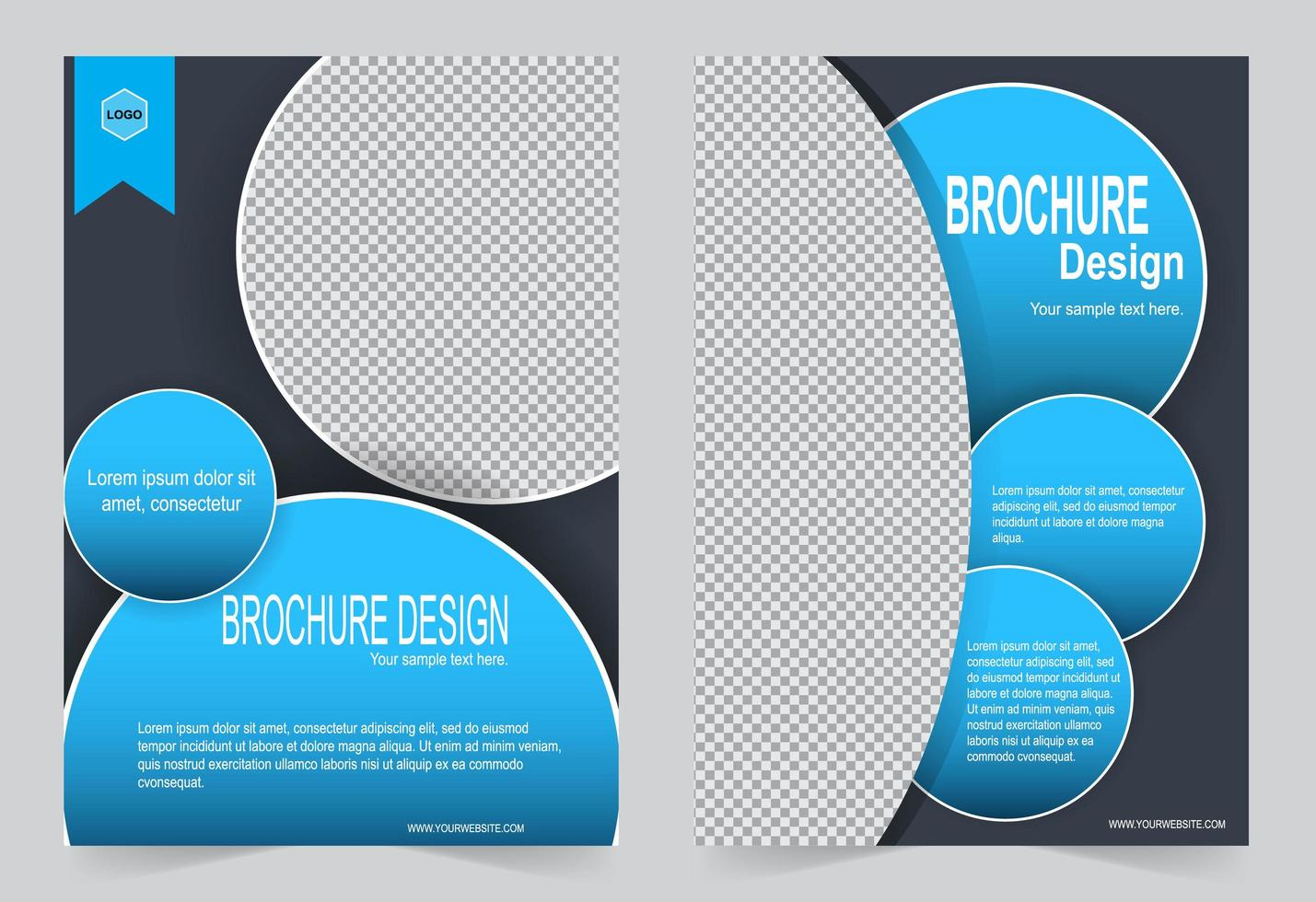 Circle Image Cover Template  vector