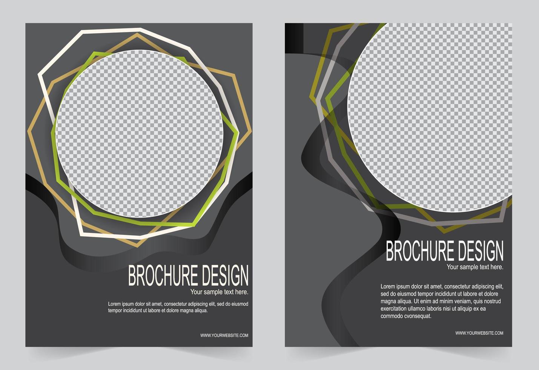 Gray flyer template set vector