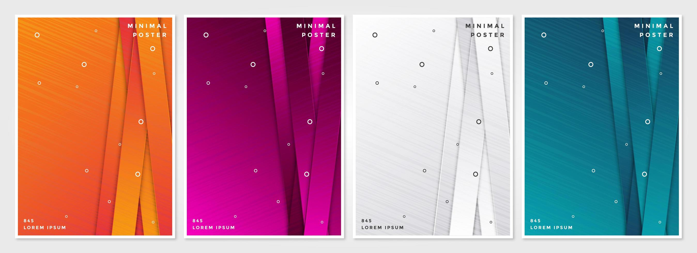 Cover set with vertical layered strips vector