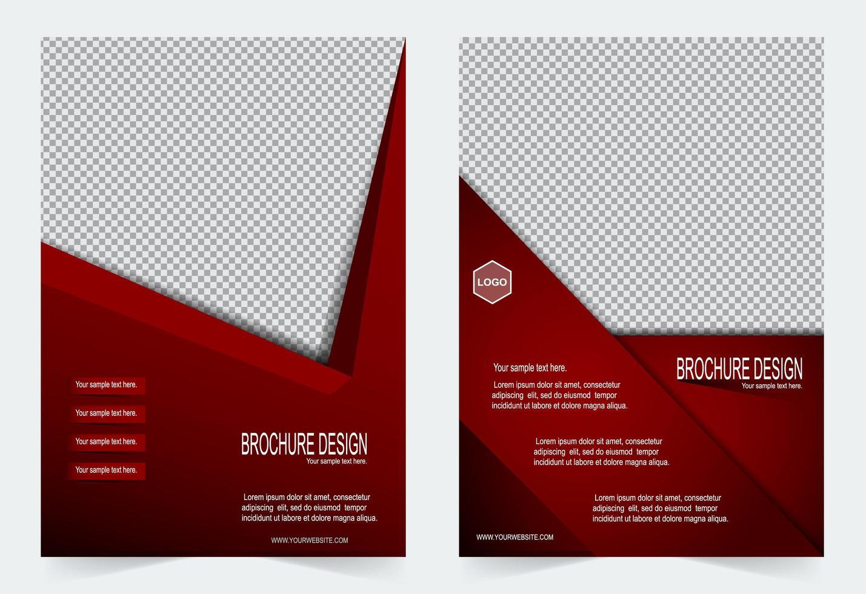 conjunto de plantillas de portada de diseño de ángulo agudo rojo vector