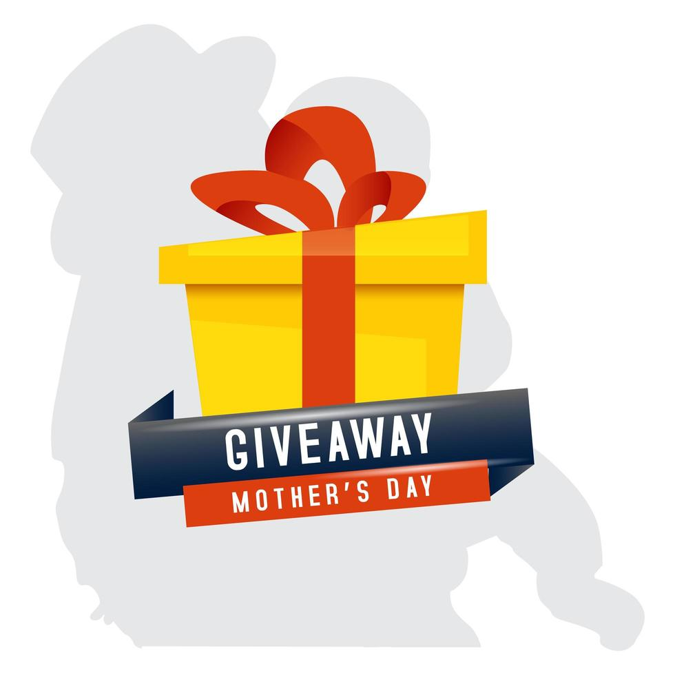 Mother's Day sale giveaway box design vector