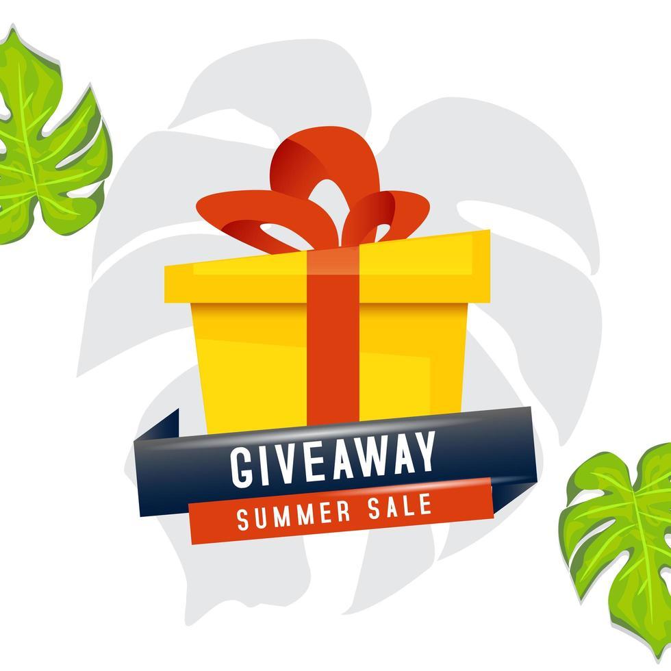 diseño de caja de regalo de venta de verano vector