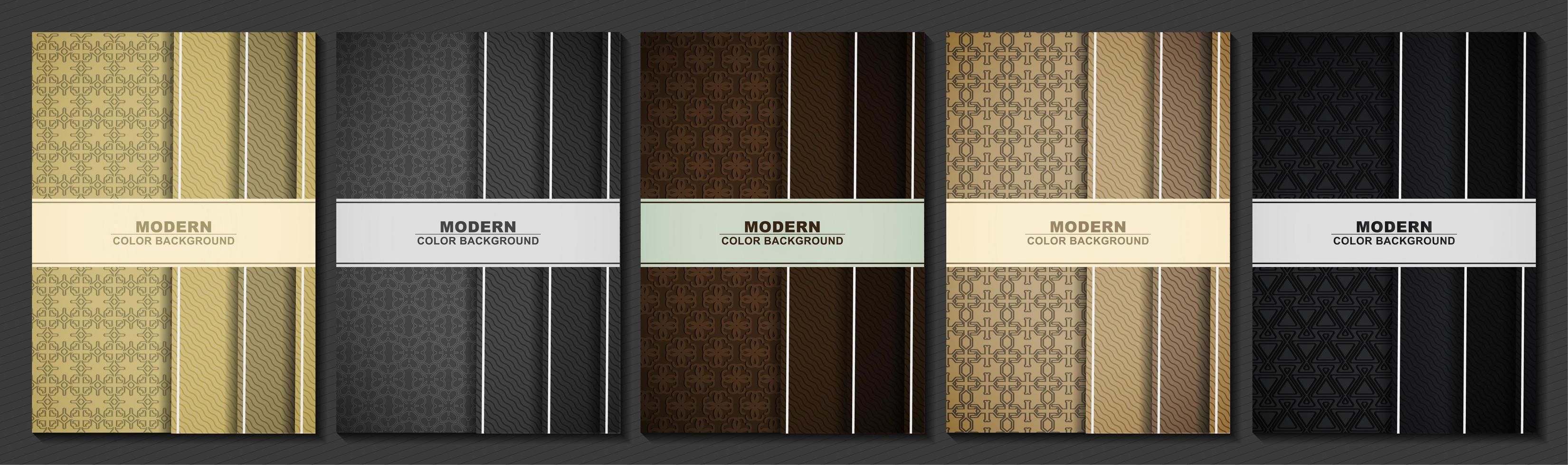 tarjetas de felicitación de estilo antiguo con múltiples patrones vector