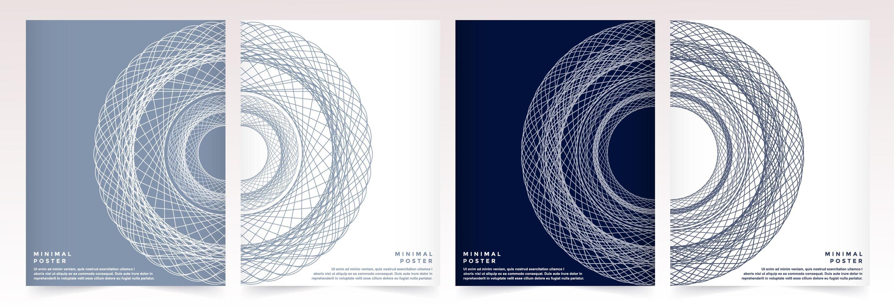 Los resúmenes coloridos minimalistas incluyen diseños de patrones geométricos. vector