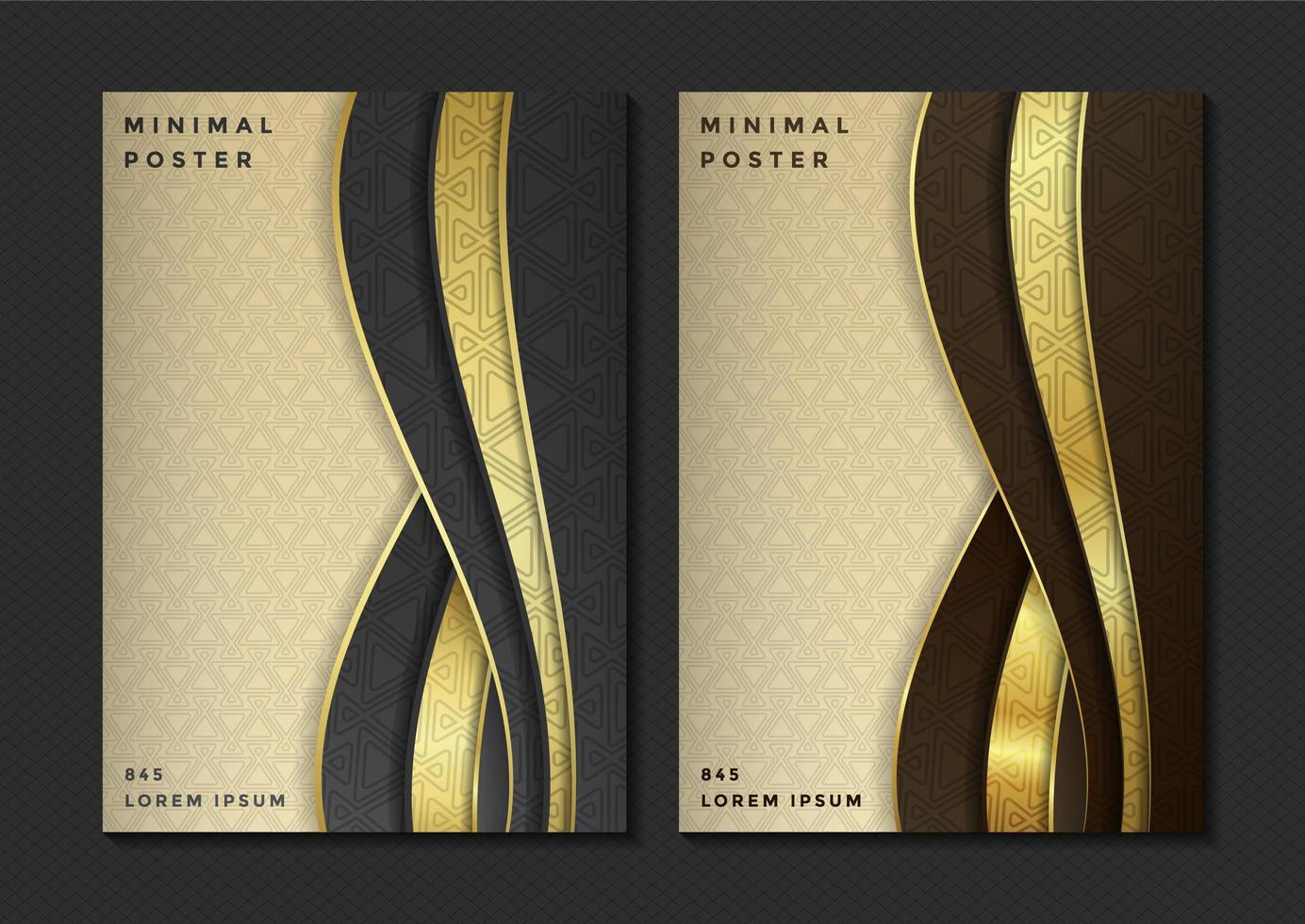 conjunto de póster abstracto mínimo vector
