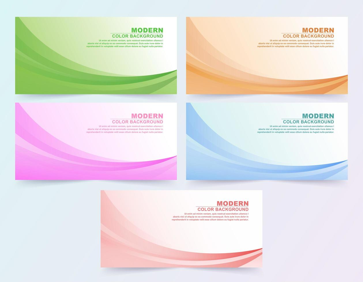 gran se de fondo de estilo de negocios ondulado colorido abstracto vector