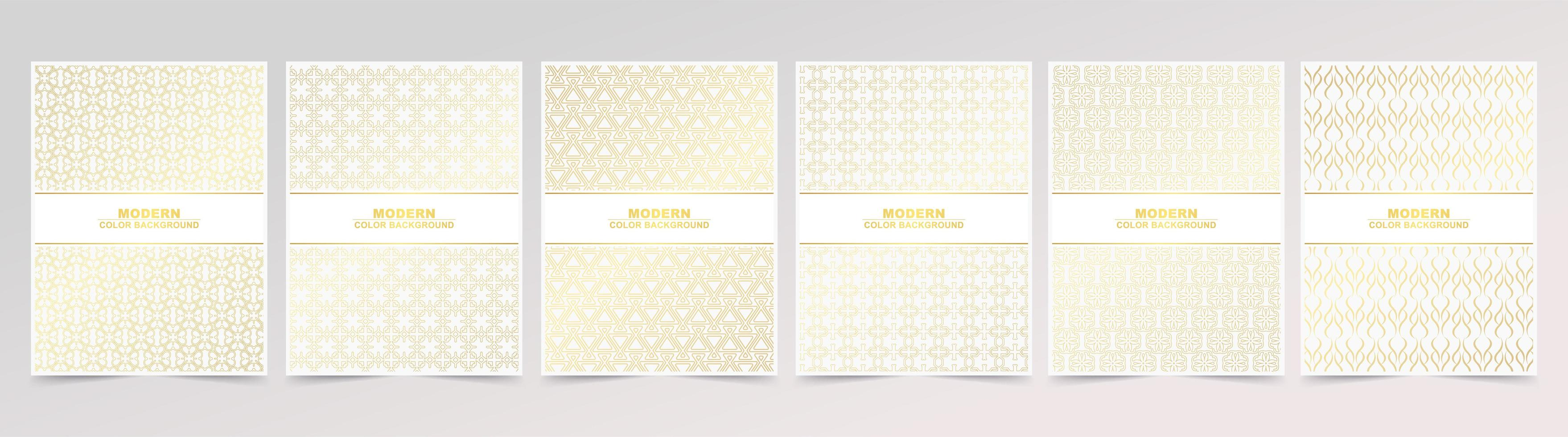 Minimal Cover in Gold Line Pattern Poster Designs vector