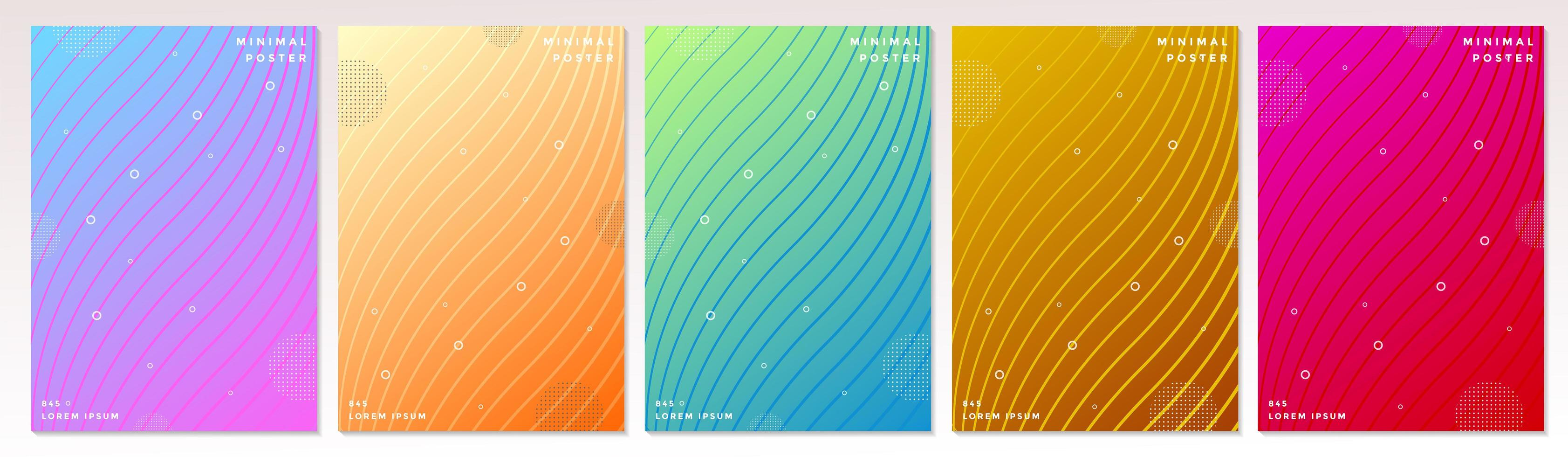 Abstract bright colorful minimal covers  vector