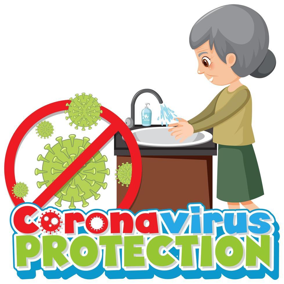 proteger el coronavirus lavándose las manos poster vector