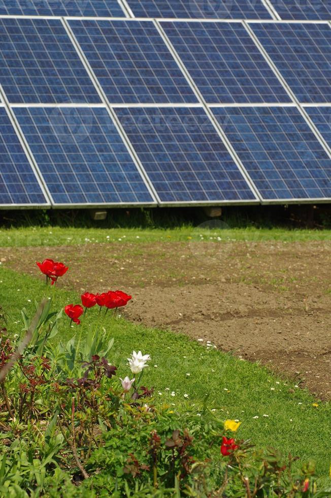paneles solares en el jardín 2 foto