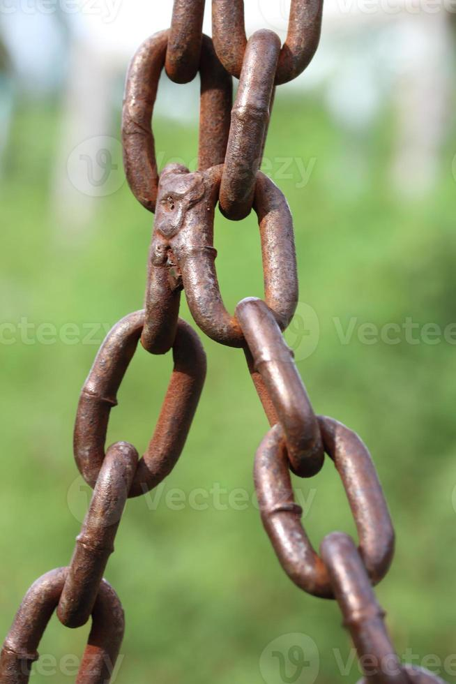 Abstract Vertical chain strength for background. photo