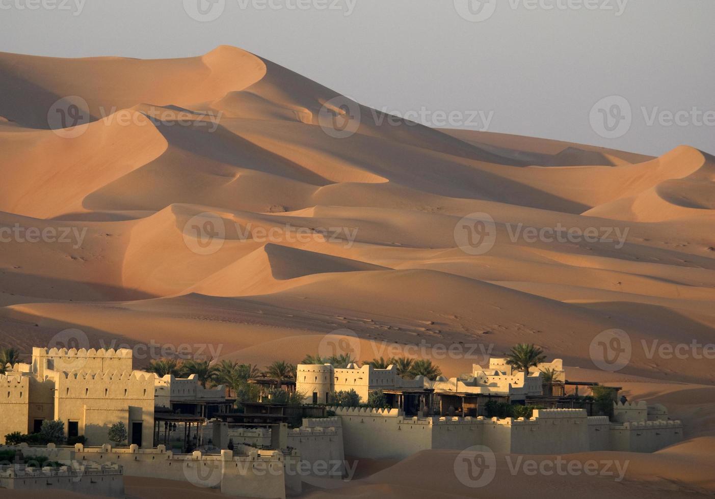 Desert sand dune photo