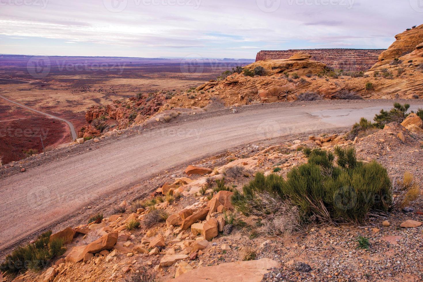 route de l'arrière-pays du désert photo