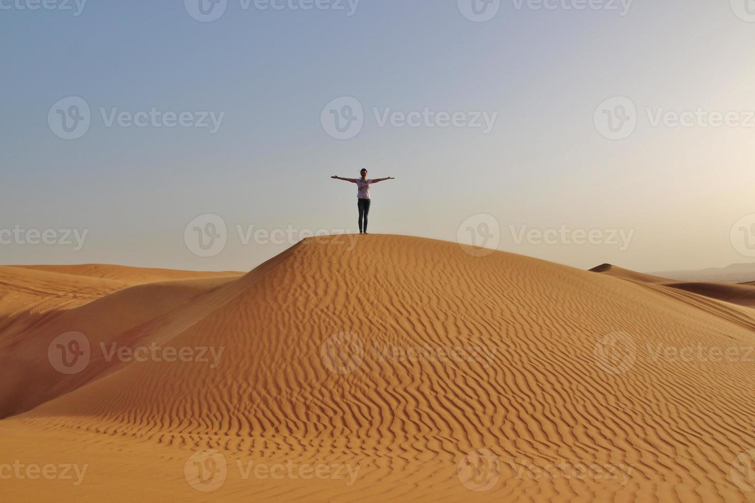 girl  in desert photo