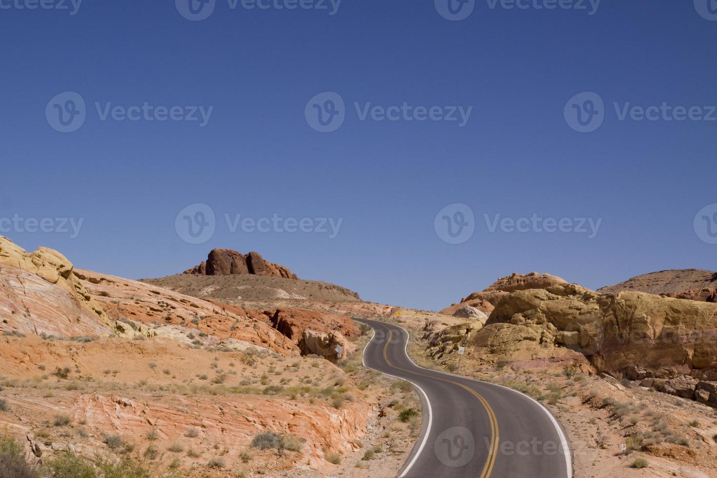 Desert road photo