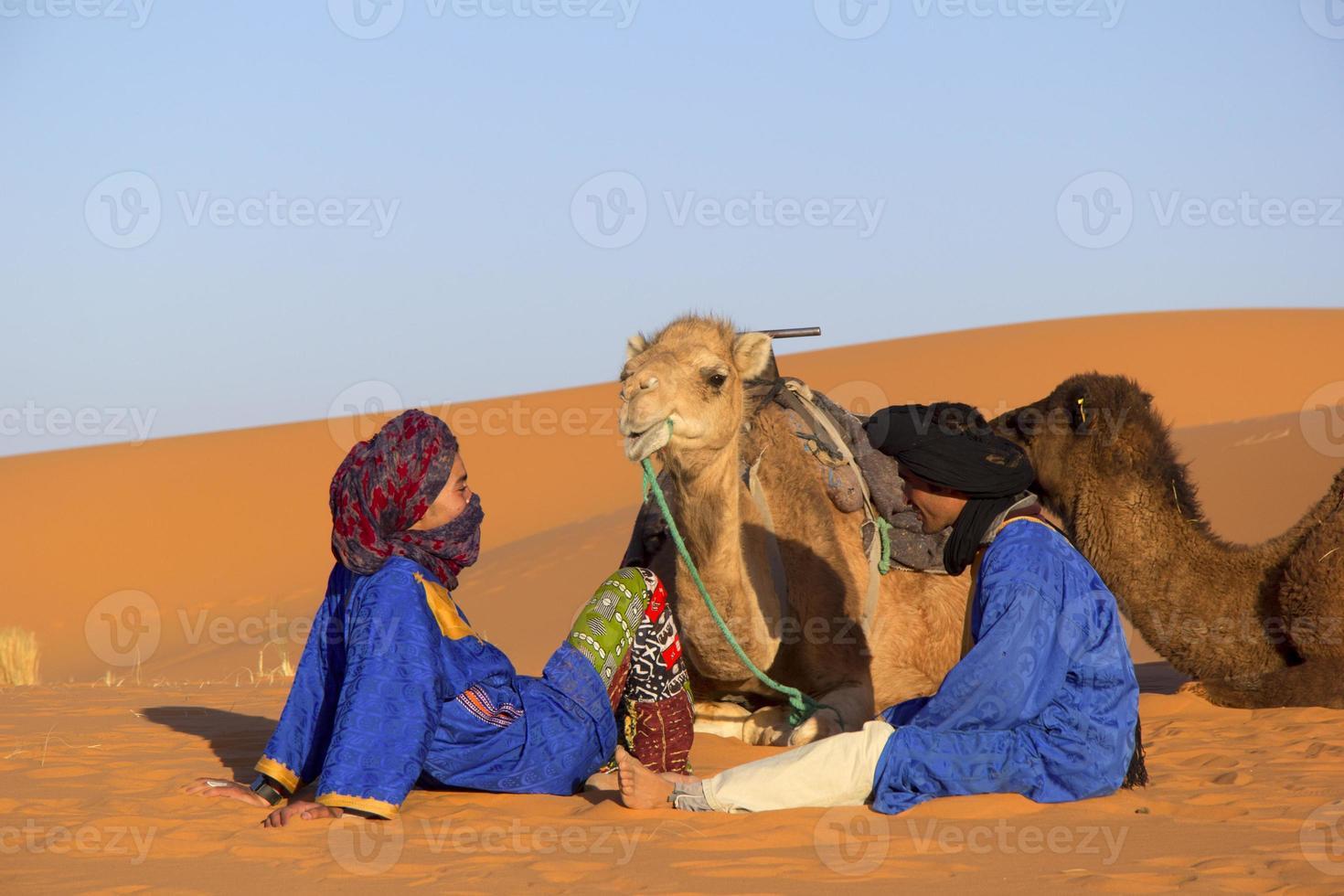 Desert and bedouins photo