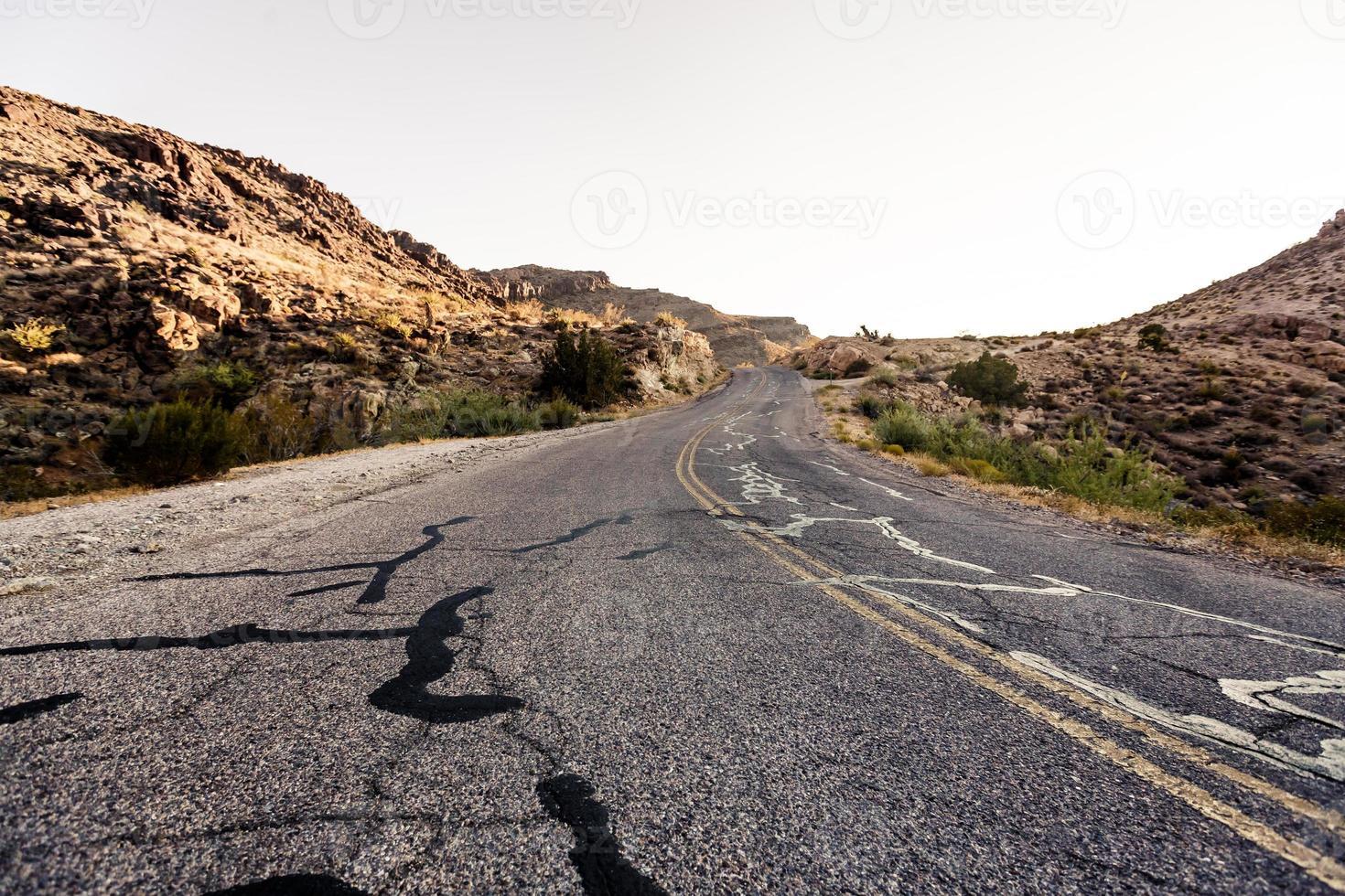 carretera del desierto de mojave foto