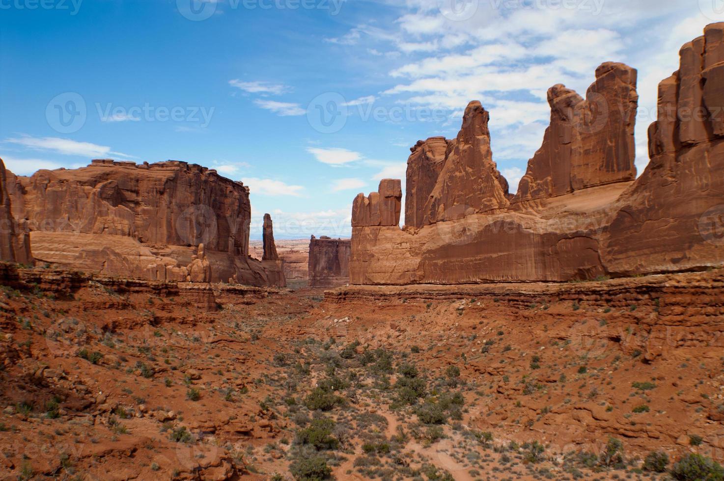 Utah desert canyon photo