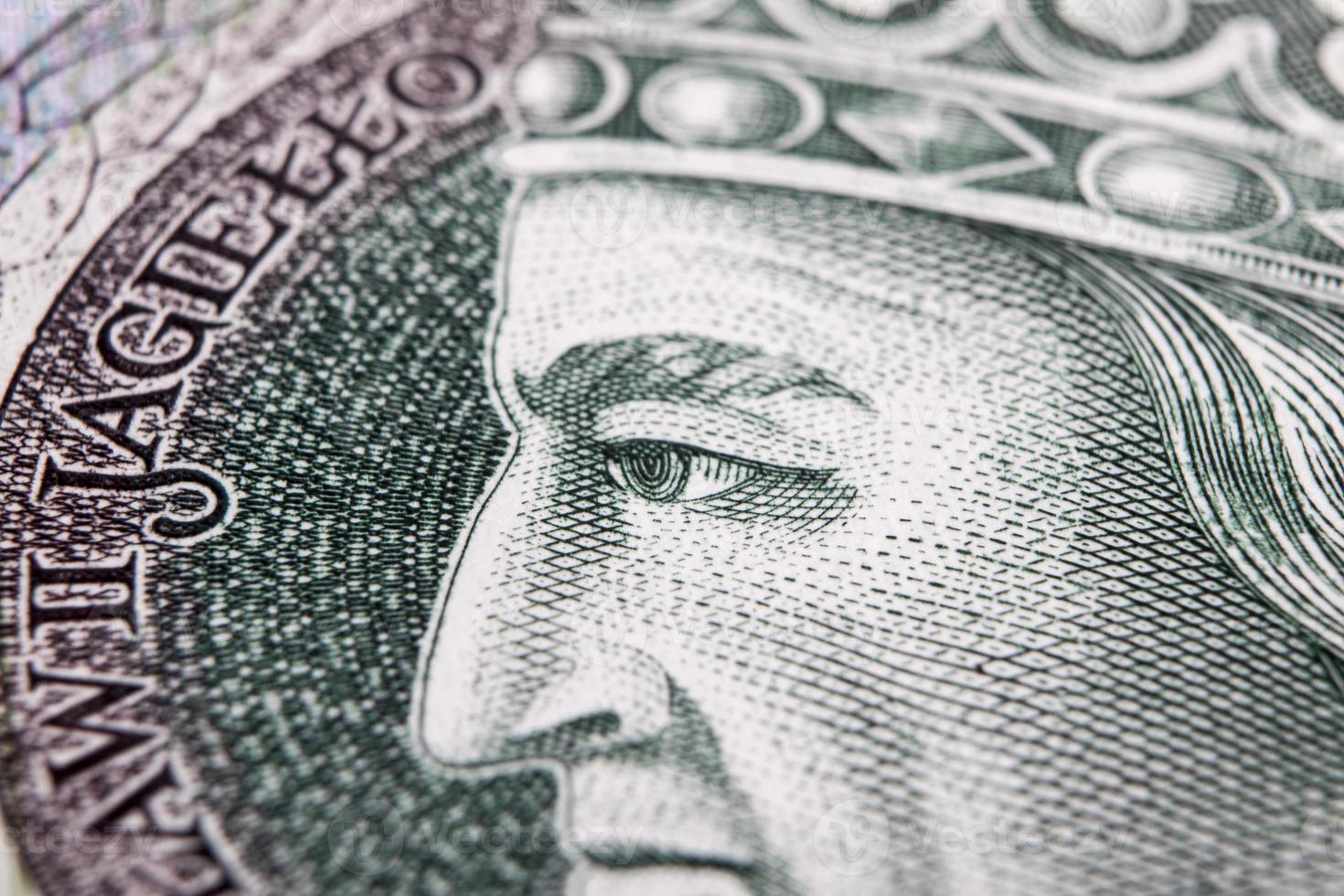 billete de banco 100 pln foto