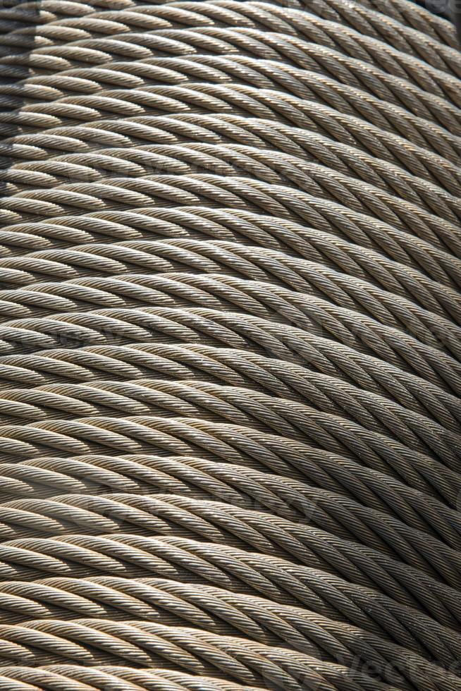 rollo de cable de metal foto