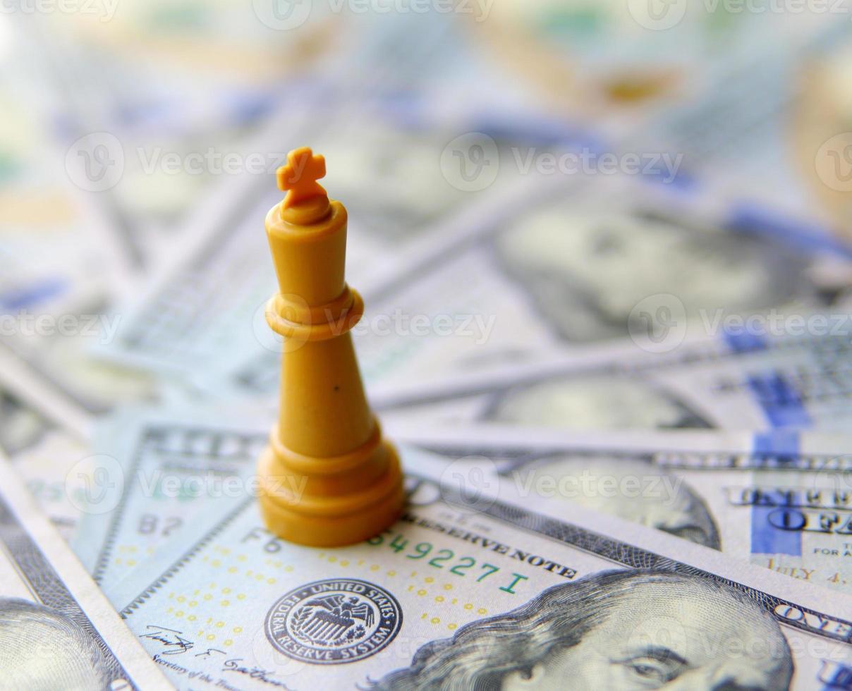 rei do conceito de negócio. dólares americanos foto
