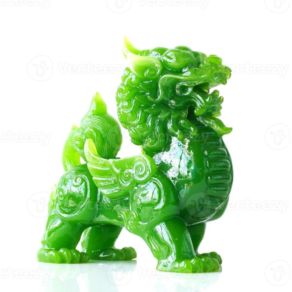 jade pixiu, mascote animal da sorte chinês foto