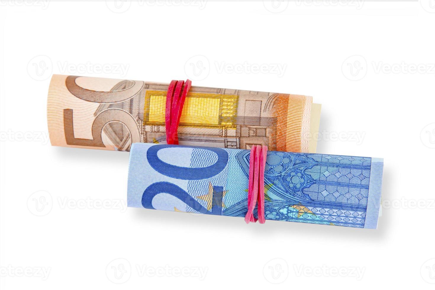 billetes en euros foto