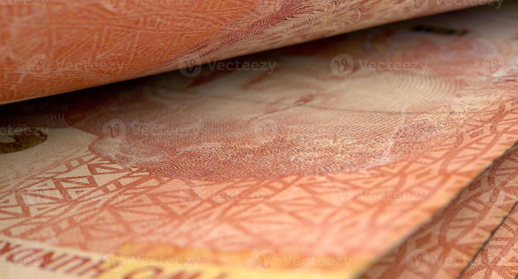 Separated Banknotes Close-up Detail photo