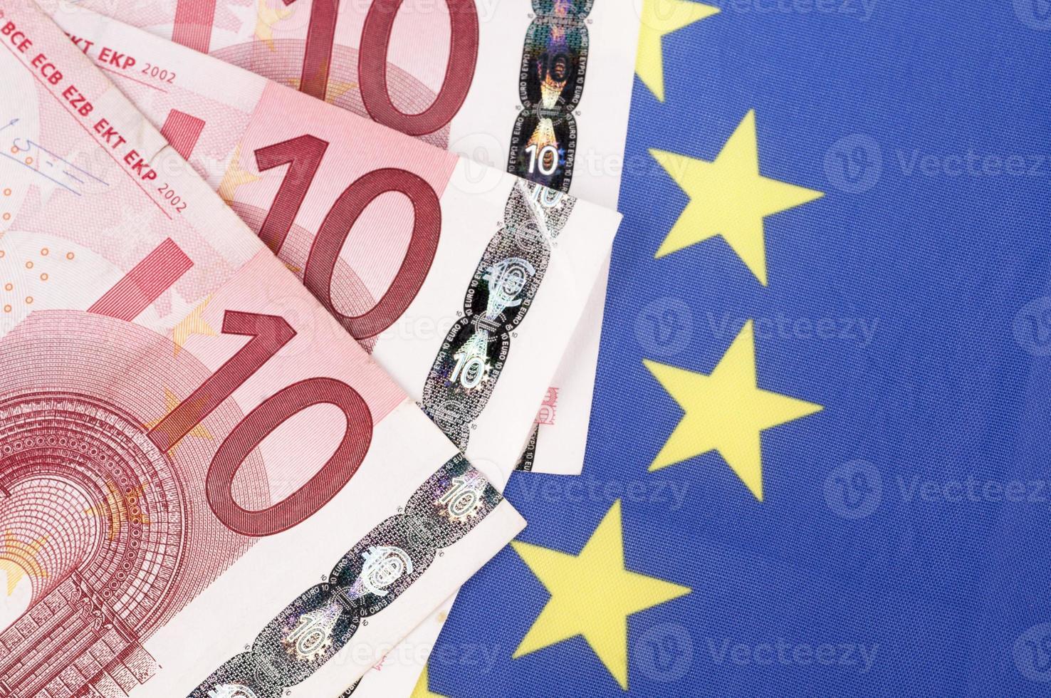 Ten euro banknotes photo