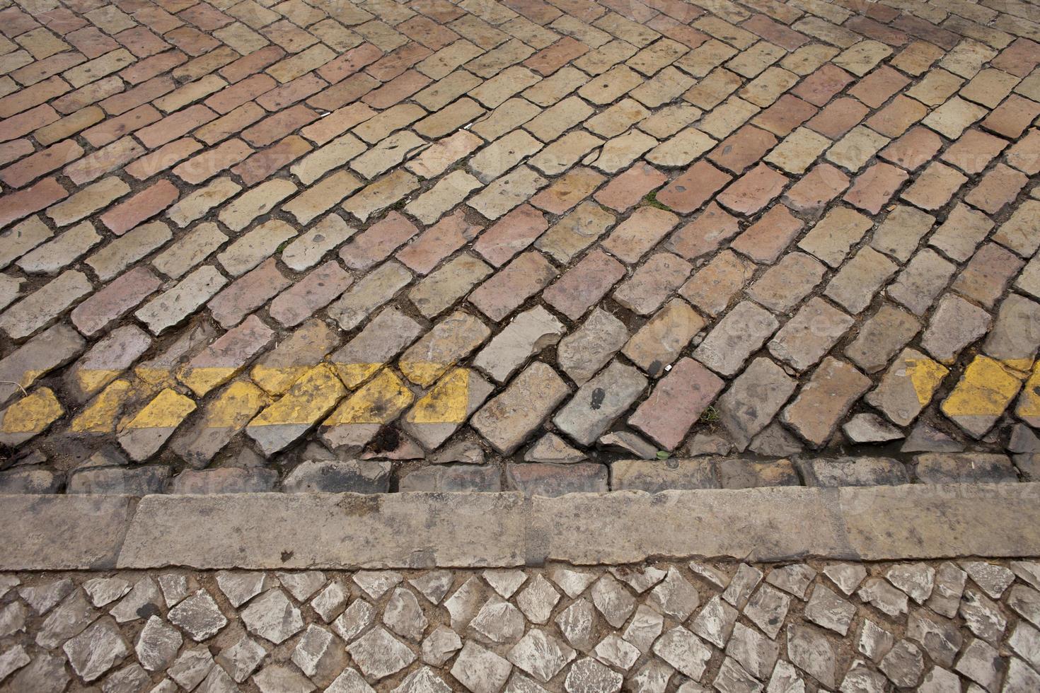 Portuguese road stones photo