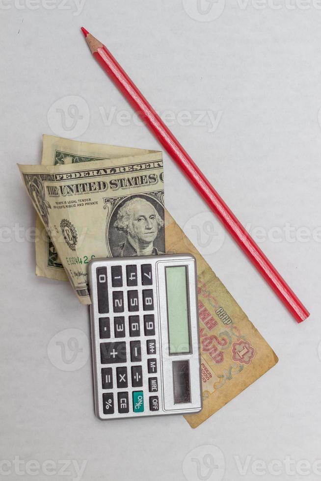 dólar y rublo foto