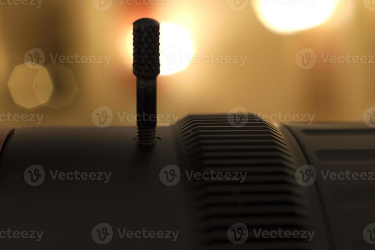 Professional digital video camera. photo