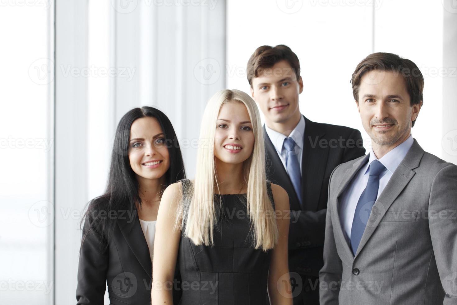 Happy business team photo