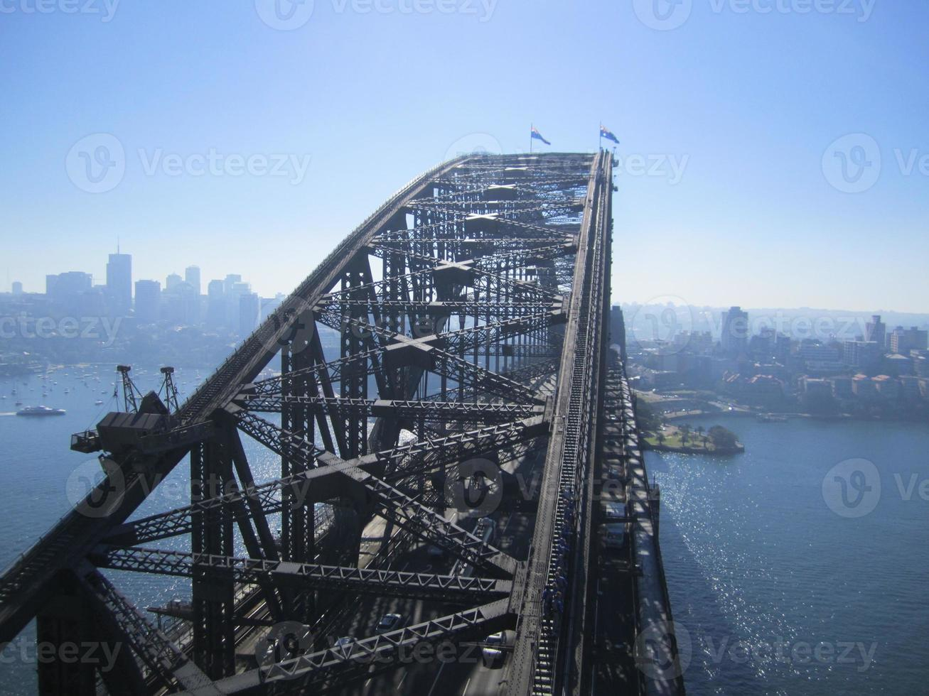 El puente del puerto desde la torre sur, Sydney foto