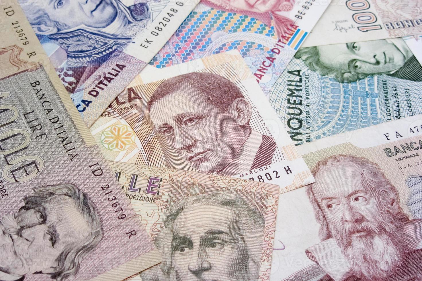 Italian old bills photo